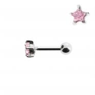 Mini Helix barbell with zirconia star