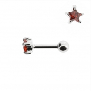 Mini Helix barbell with zirconia star