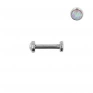 Mini Opal Earstud - Internally Threaded