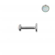 Mini Opal Labret - Internally Threaded