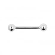 White Gold Barbell