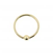 Gold Mini Ball Closure Ring