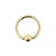 Gold Ball Closure Ring