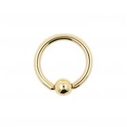 Gold Ball Closure Ring