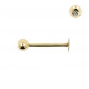 Gold Mini Jewelled Labret
