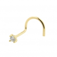 Gold Nosestud with Zirconia