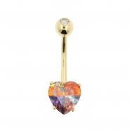 Gold Belly Ring Miracle Heart
