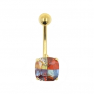 Gold Belly Ring Miracle Square