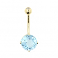 Gold Jewelled Topaz Belly Ring