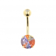Gold Belly Ring Miracle Circle