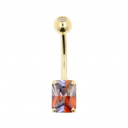 Gold Belly Ring Miracle Rectangle