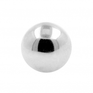 White Gold Threaded Ball