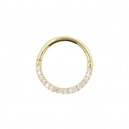 Gold Click Ring - Zirconia Front