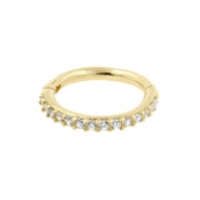 Gold Click Ring - Zirconia Bottom