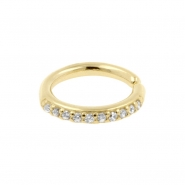 Gold Continuous Ring With Zirconia