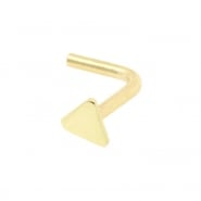 White Gold Nosestud - Triangle
