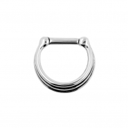 Triple Ring Septum Clicker - Shaded