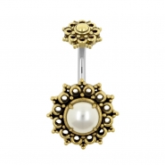 Vintage Brass Banana with Pearl