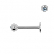 Jewelled Labret Stud