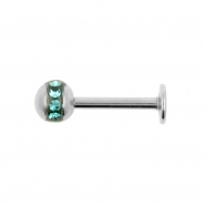 Labret Stud With Orbit Ball