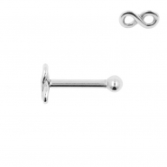 Internally Threaded Tragus Barbell - Infinity