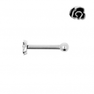 Internally Threaded Tragus Barbell - Rose