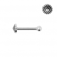 Internally Threaded Tragus Barbell - Sun