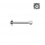 Internally Threaded Tragus Barbell - Square