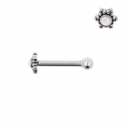 Internally Threaded Tragus Barbell - Opal Star