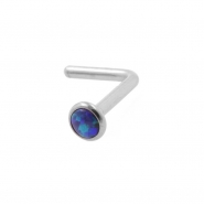 Titanium Opal Cabochon Nosestud