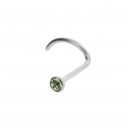 Jewelled Titanium Nosestud