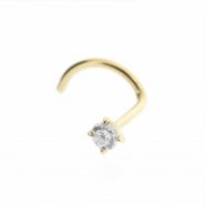 18 Karat Gold nosestud with diamond