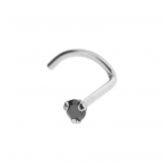 Titanium Nosestud with Zirconia