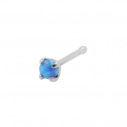 Prong-set Opal Nosebone