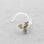 Bioplast Nosestud - Gold Zirconia Trinity