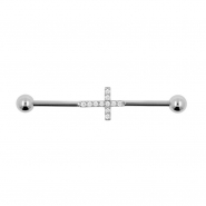 Jewelled Industrial Barbell - Cross