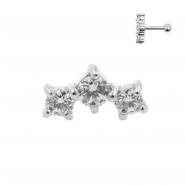 Helix Barbell with Three Swarovski™ Gems