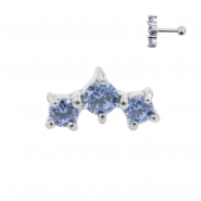 Helix Barbell with Three Swarovski™ Gems