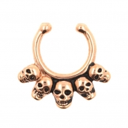 Fake Septum Ring Skulls