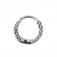 Click Ring - Snake Epoxy Eye