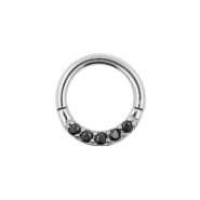 Click Ring Met Zirkonia In Pave Setting