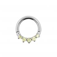 Click Ring Met Gezette Zirkonia Steentjes