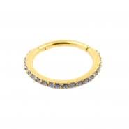 Jewelled Click Ring With Swarovski Gems