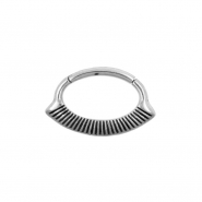 Septum & Daith Click Ring - Lined