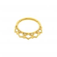 Septum & Daith Click Ring - Ornamental Lotus