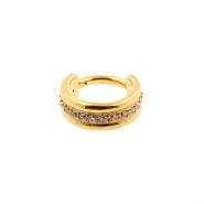 Jewelled Triple Click Ring Flat