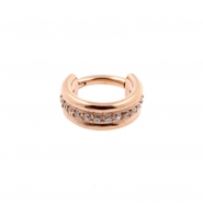 Jewelled Triple Click Ring Flat