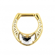 Swarovski Moon Septum Clicker