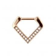 Jewelled Septum V-Clicker