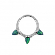 Hinged Ring With Three Opal Spikes